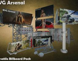 Modular Billboard Pack 02 3D asset low-poly