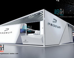 exhibition booth 82 3d model