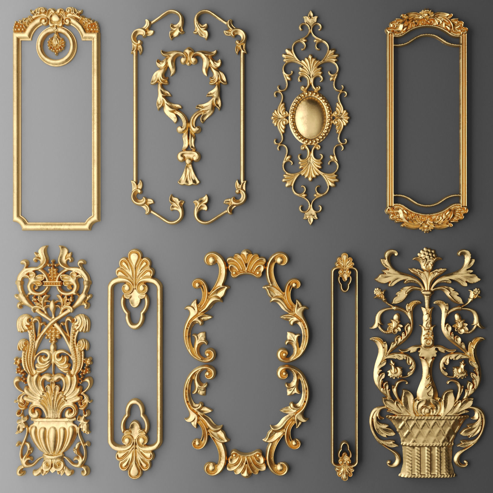 Frame molding set