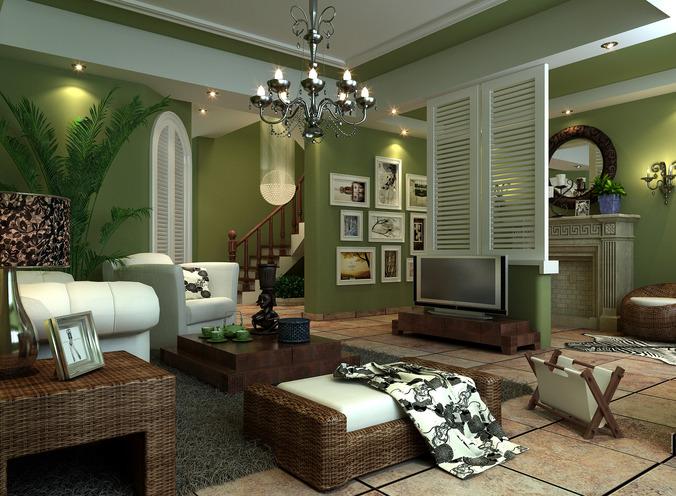 Lush Living Room3D model