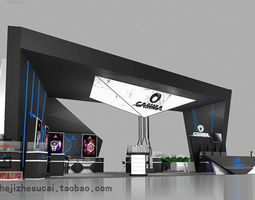 3d model exhibition booth 56