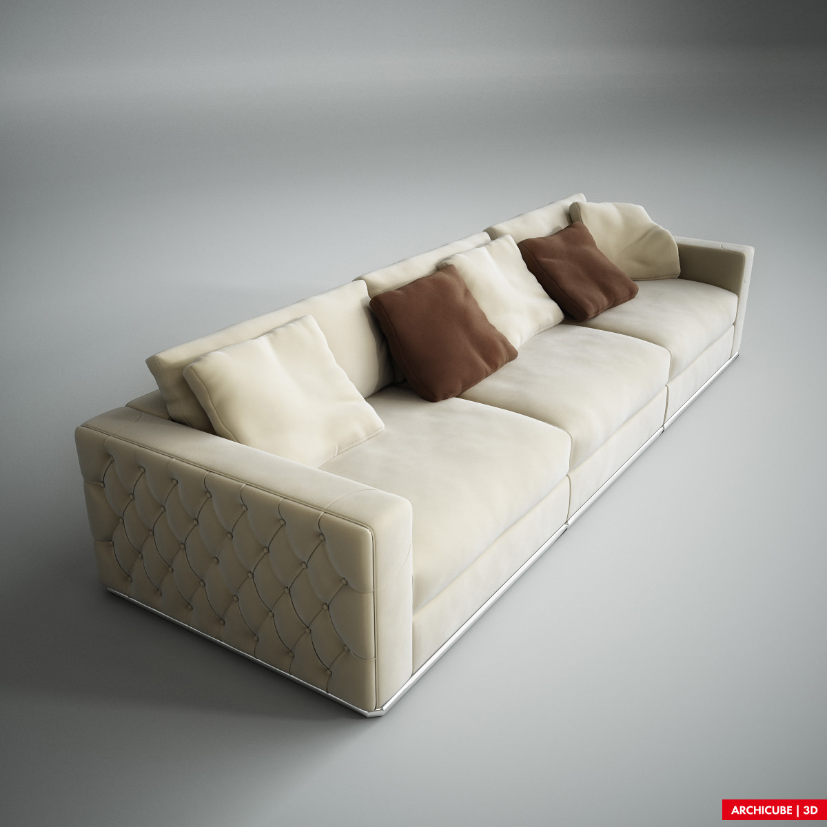 Fendi sofa 3d model max obj fbx for Sofa 3d model