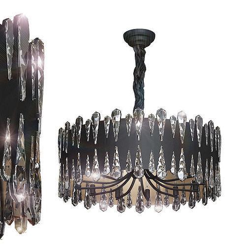 Crystal pendant lamp D80