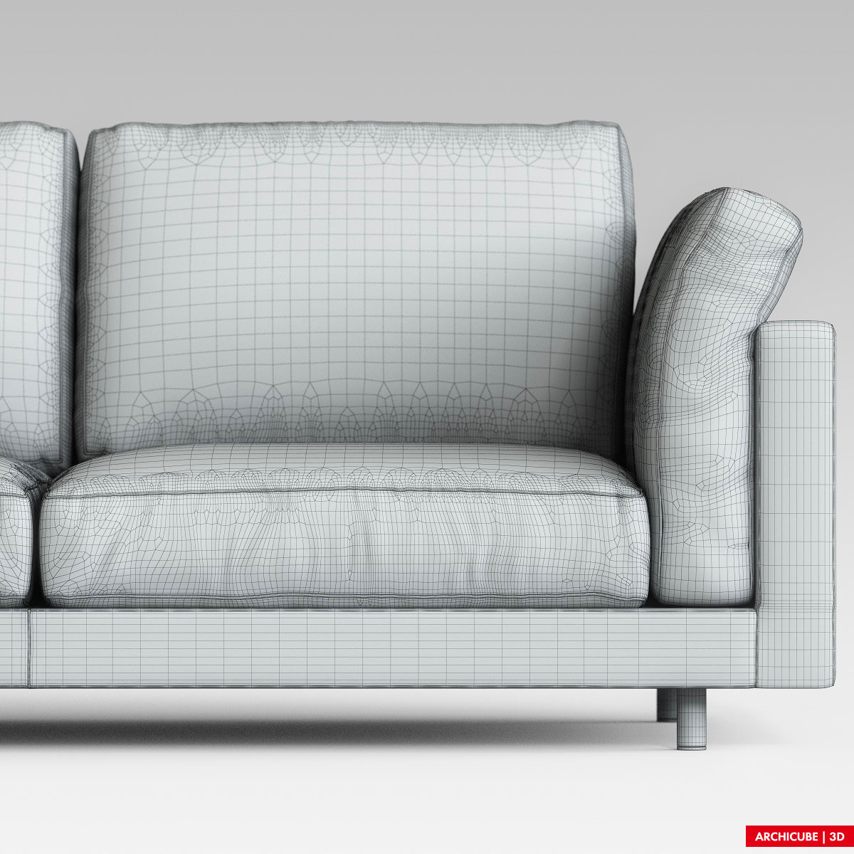 Modern sofa 3d model max obj fbx for Sofa 3d model