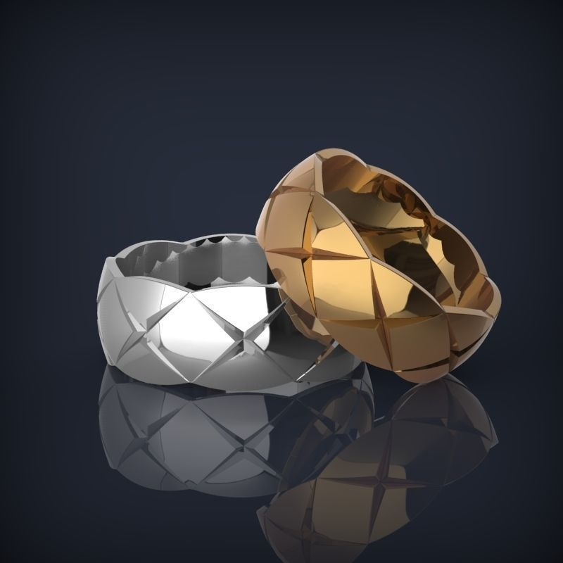 Fashionjewelry wedding bands 3d printable rings model