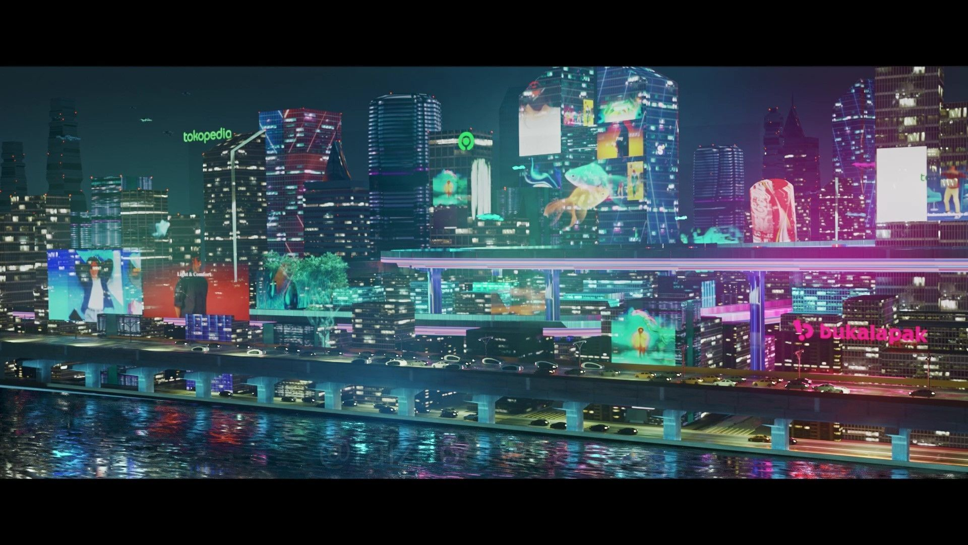 Futuristic  City - EEVEE Blender Cyberpunk look