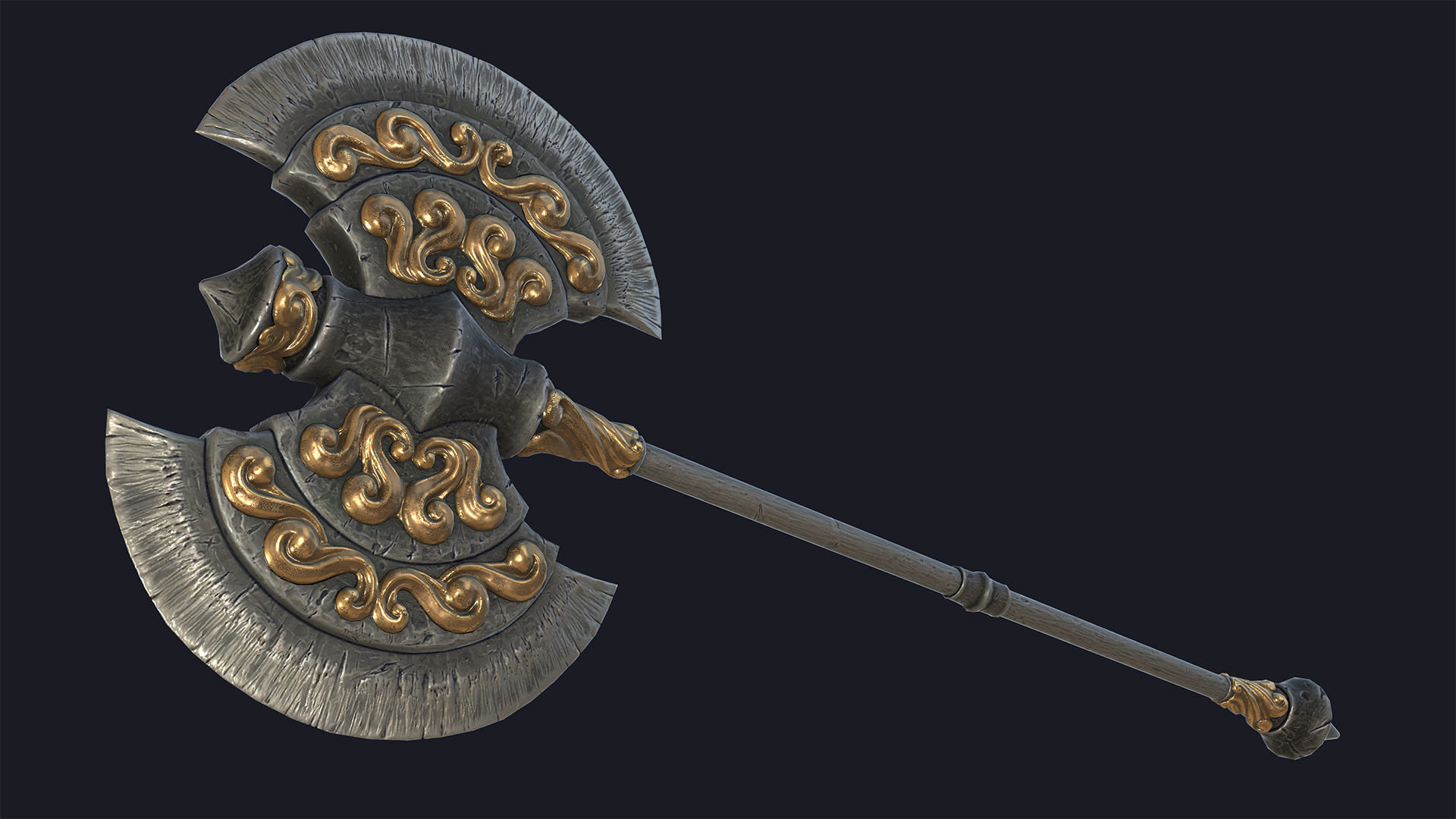 Fantasy two-handed axe 2 PBR