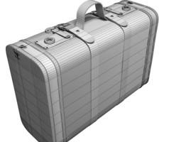 Old suitcase set 3D