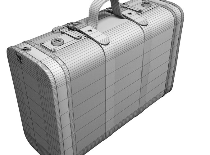 Old suitcase set3D model