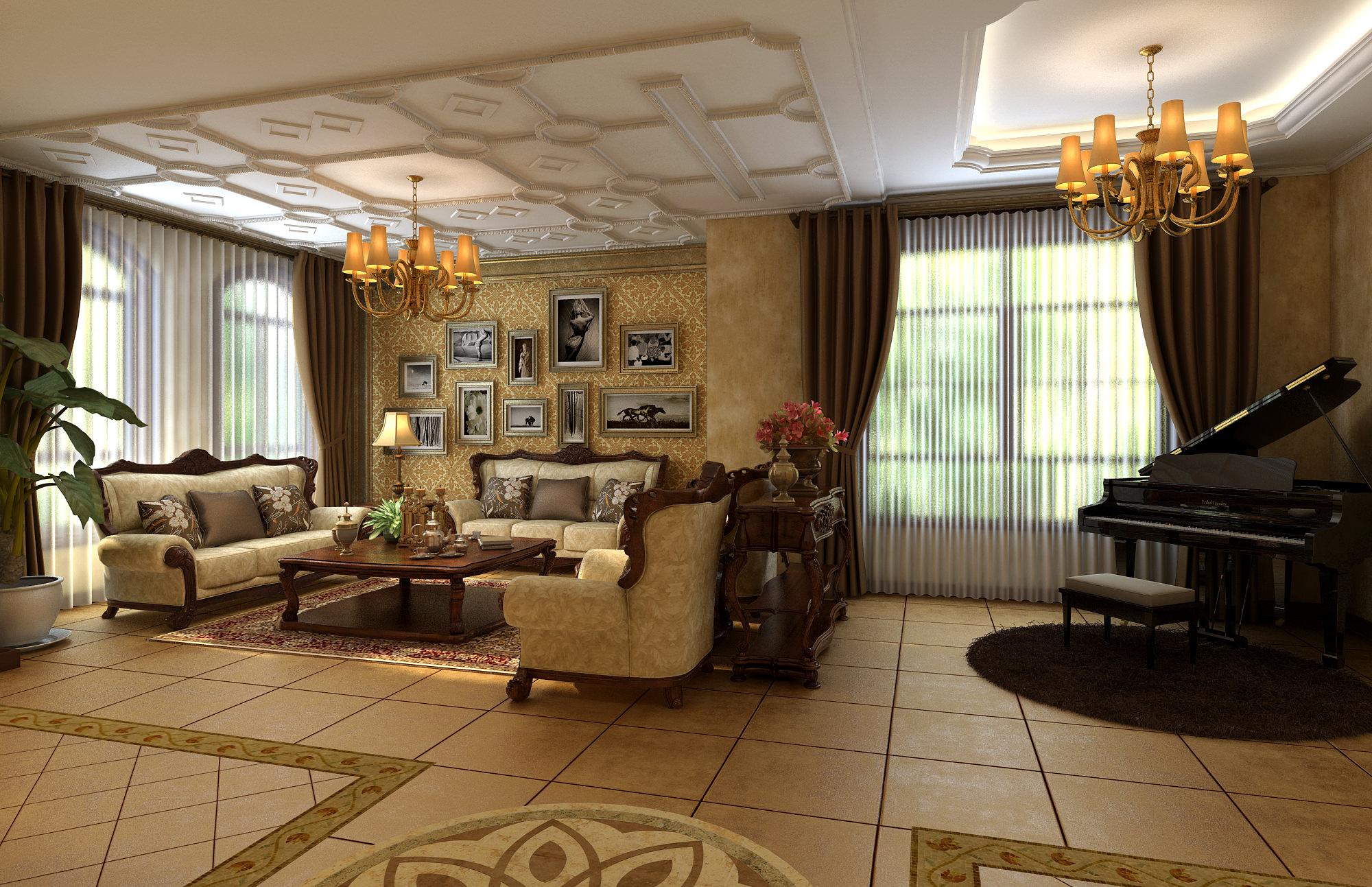 Cozy Living Room 3D model