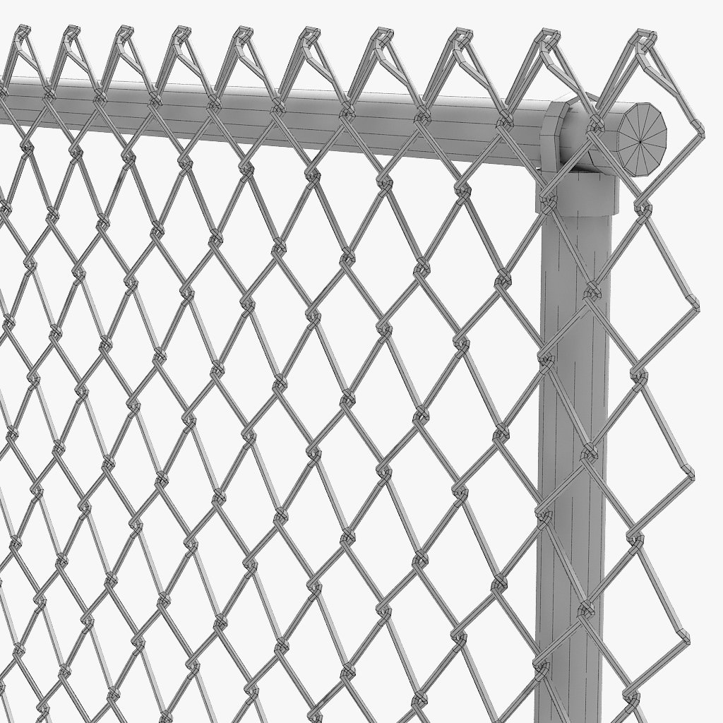 chain link fence 3D model | CGTrader