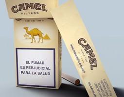 3d camel cigarette pack