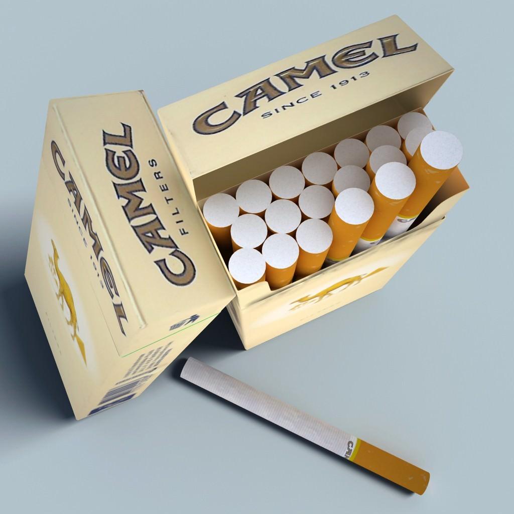 Camel Cigarette Pack 3d Model Max Obj 3ds C4d