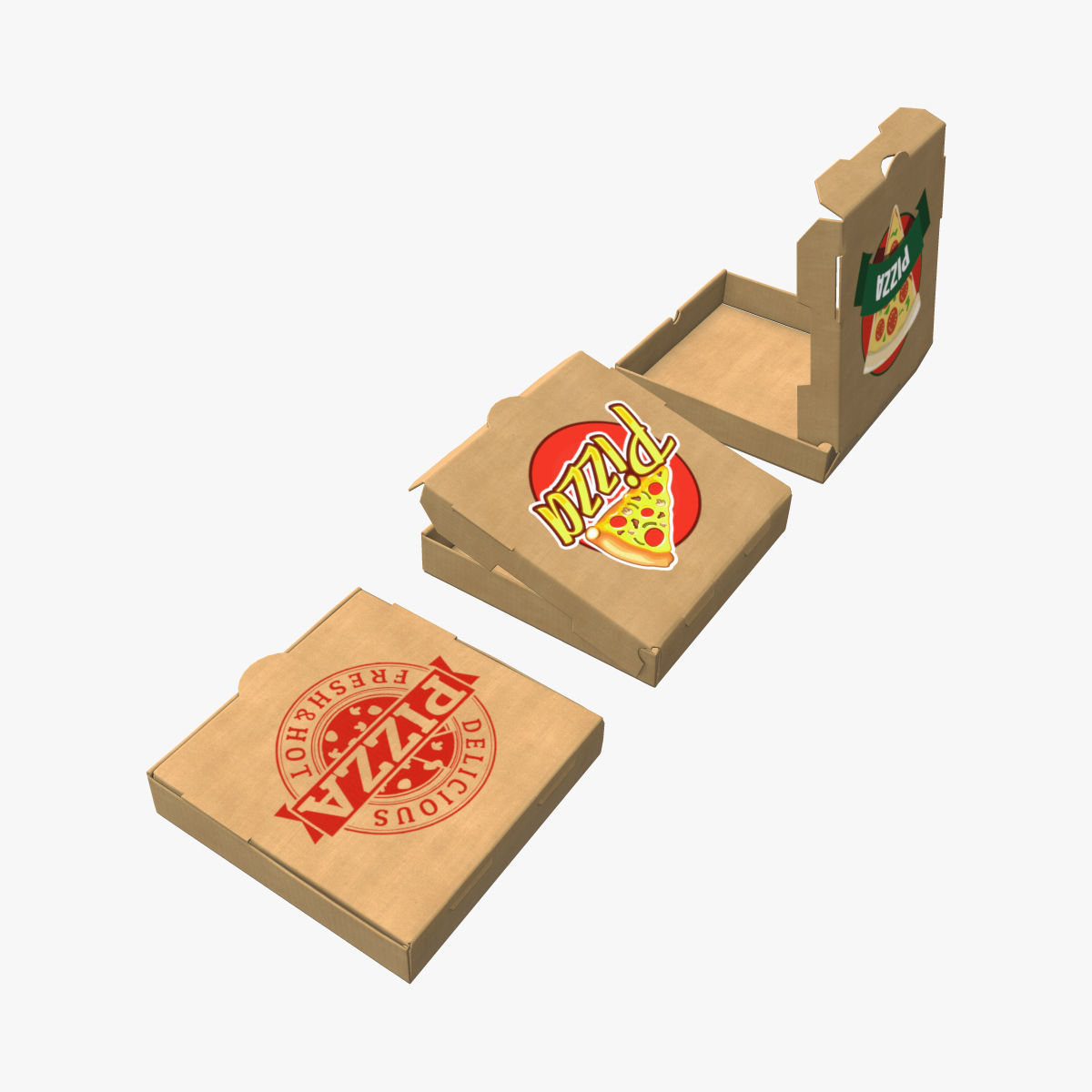 Cardboard box pizza