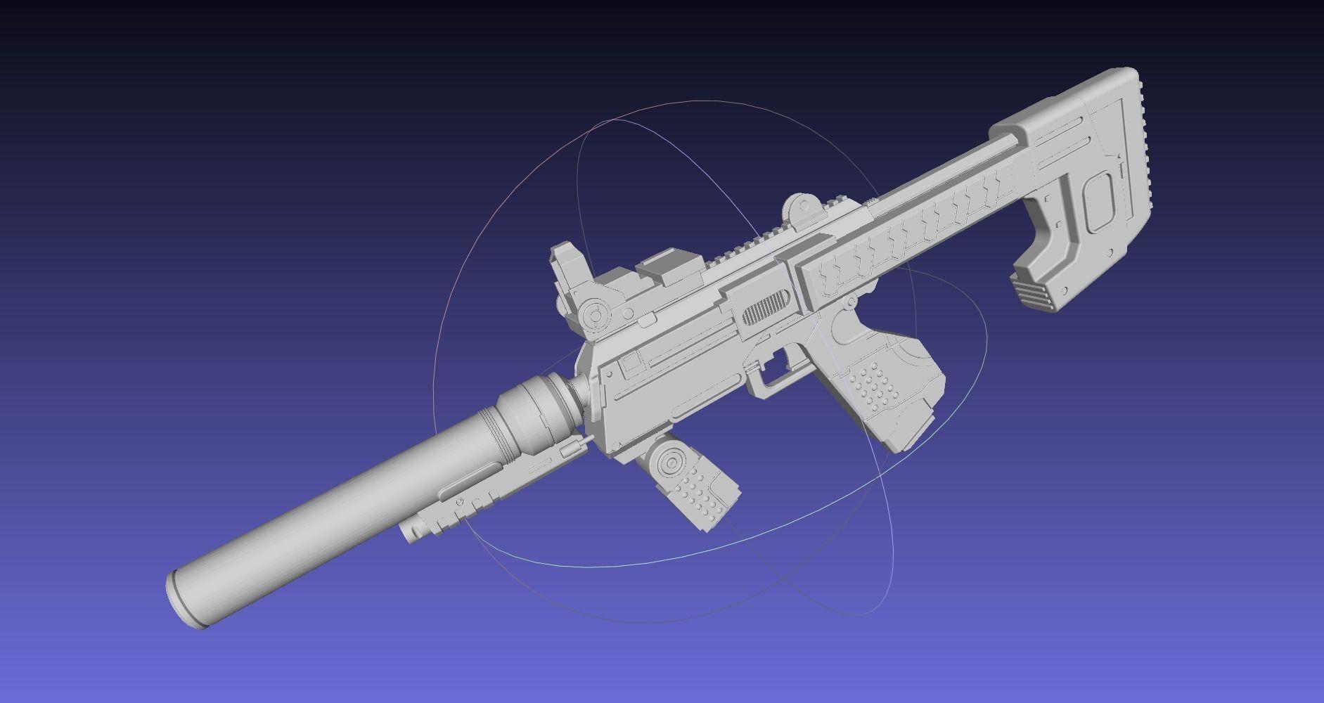 Halo ODST SMG Basic Model