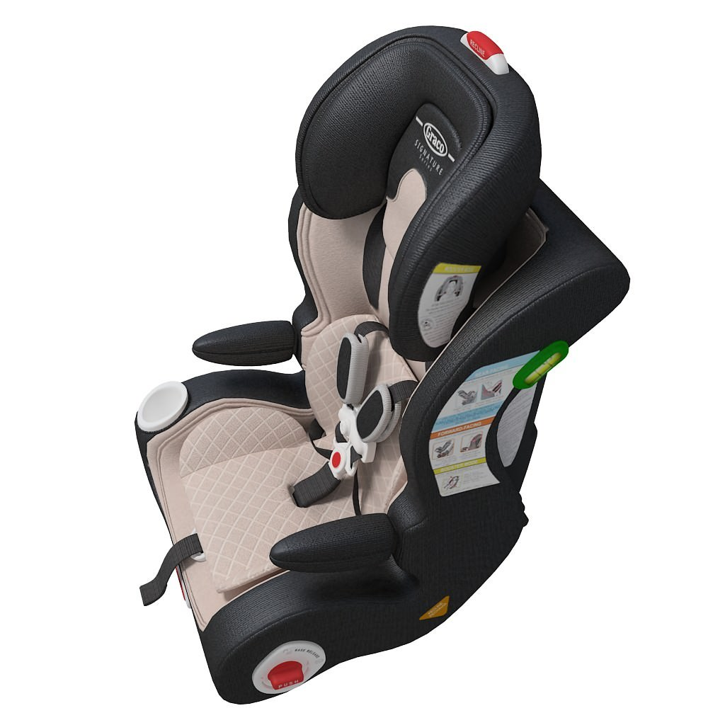 car seat baby 3d model max obj 3ds c4d. Black Bedroom Furniture Sets. Home Design Ideas