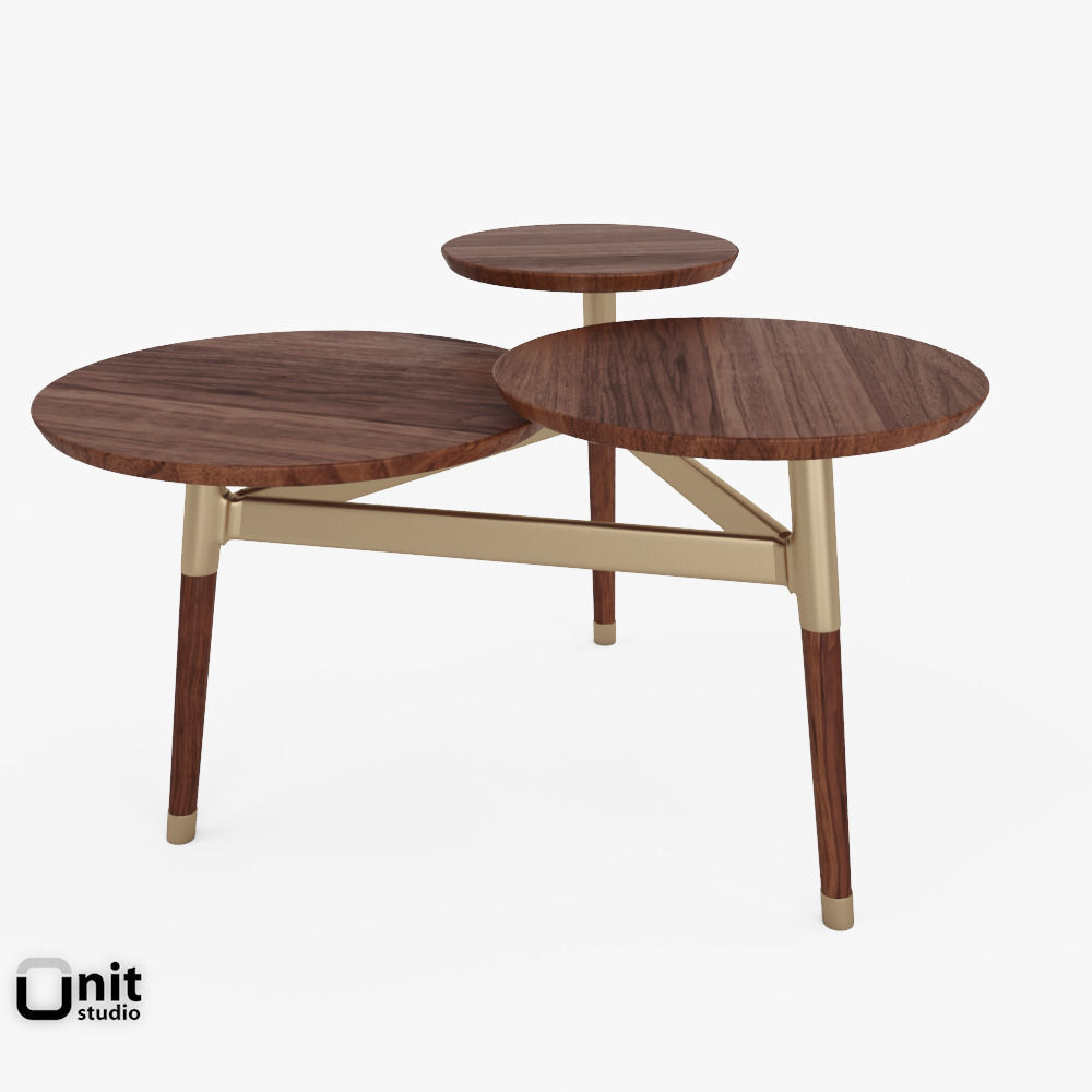 Clover Coffee Table By West Elm 3d Model Max Obj 3ds Fbx Dwg