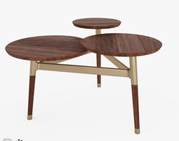3d model clover coffee table by west elm