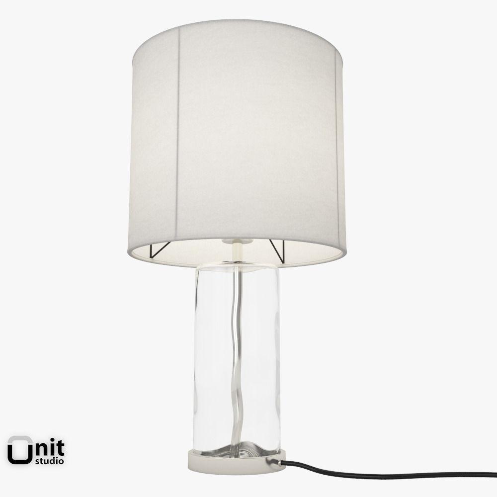 Blown glass table lamps -  Blown Glass Table Lamp By West Elm 3d Model Max Obj Fbx Dwg 3