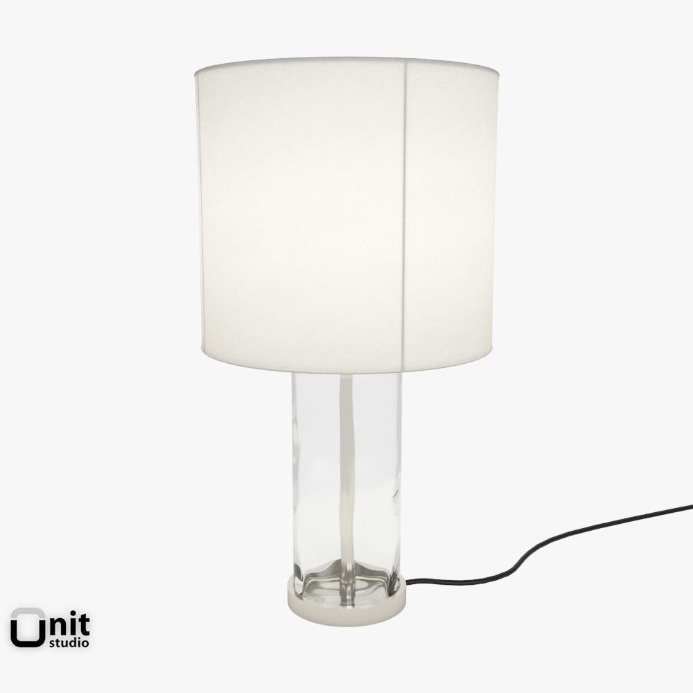 Blown Glass Table Lamp By West Elm 3d Model Max Obj Fbx Dwg 1 ...