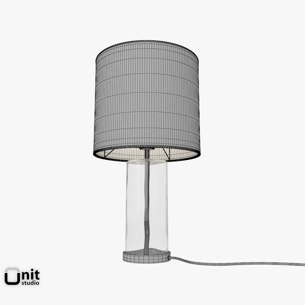 blown glass table lamp by west elm 3d model max obj fbx. Black Bedroom Furniture Sets. Home Design Ideas