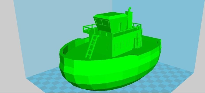 Tiny RC Tugboat Free 3D print model