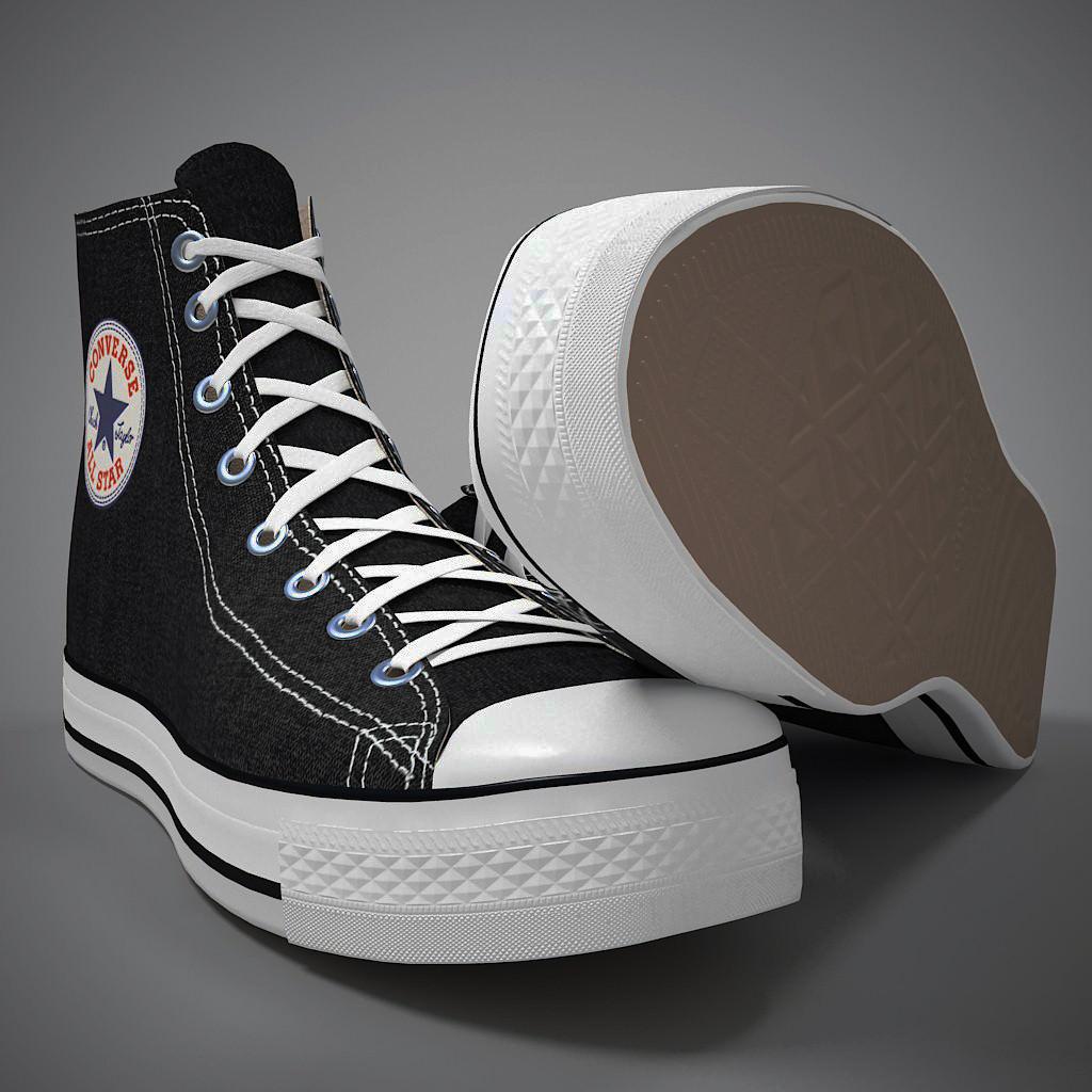 scarpa converse 3d model