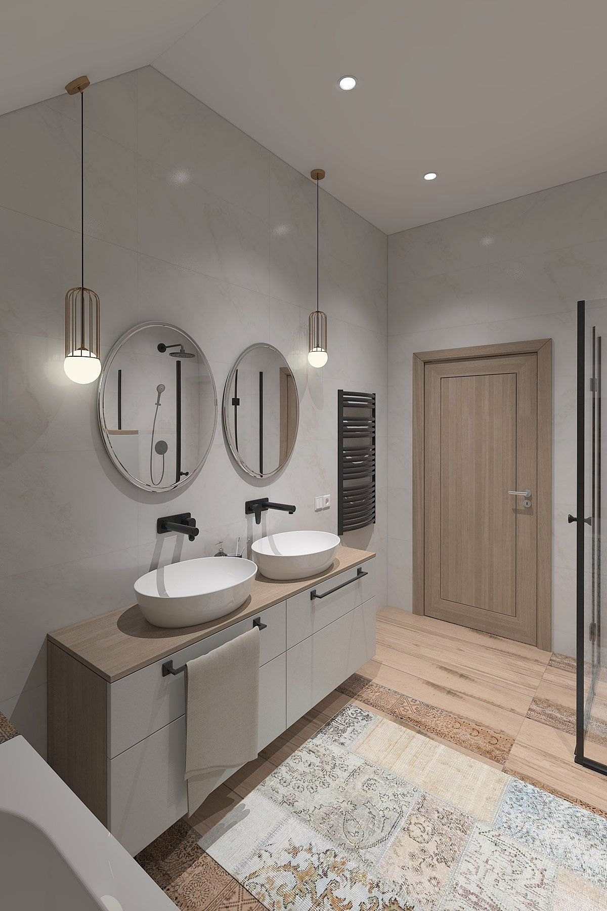 3D model Unique bathroom with sloping ceilings   CGTrader
