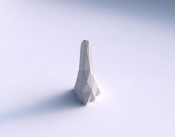 vase grounded tipping triangle with triangle plates 3d printable model