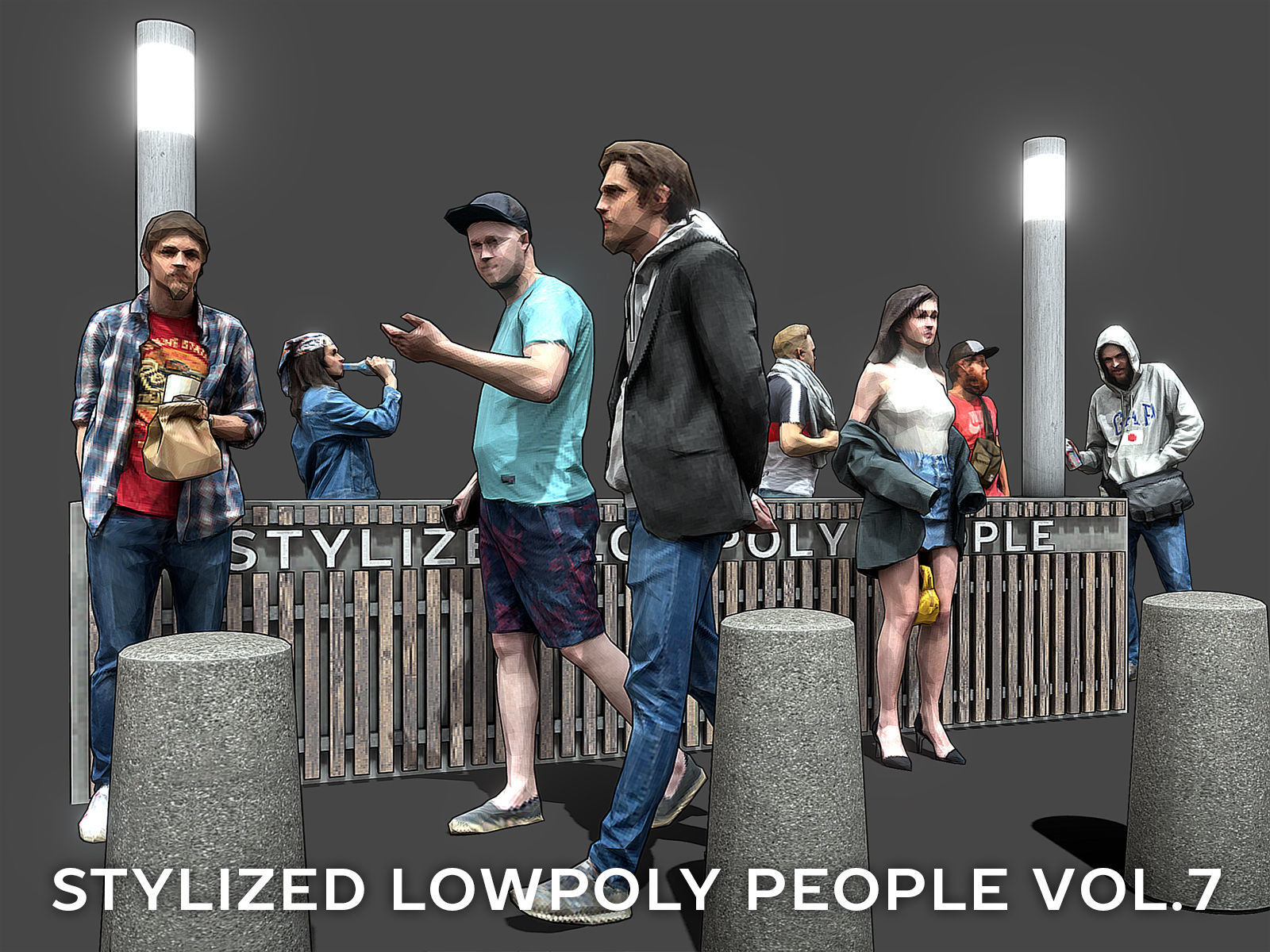 Stylized Lowpoly People Casual Pack Volume 7