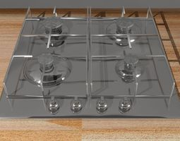 embedded gas hob surface 3D model