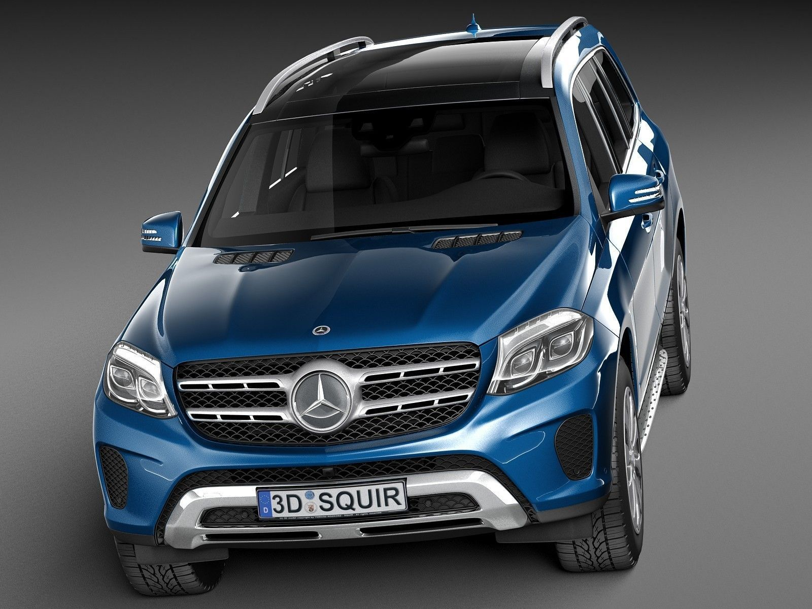 Mercedes benz gls 2017 3d model max obj 3ds fbx c4d for Gls mercedes benz suv
