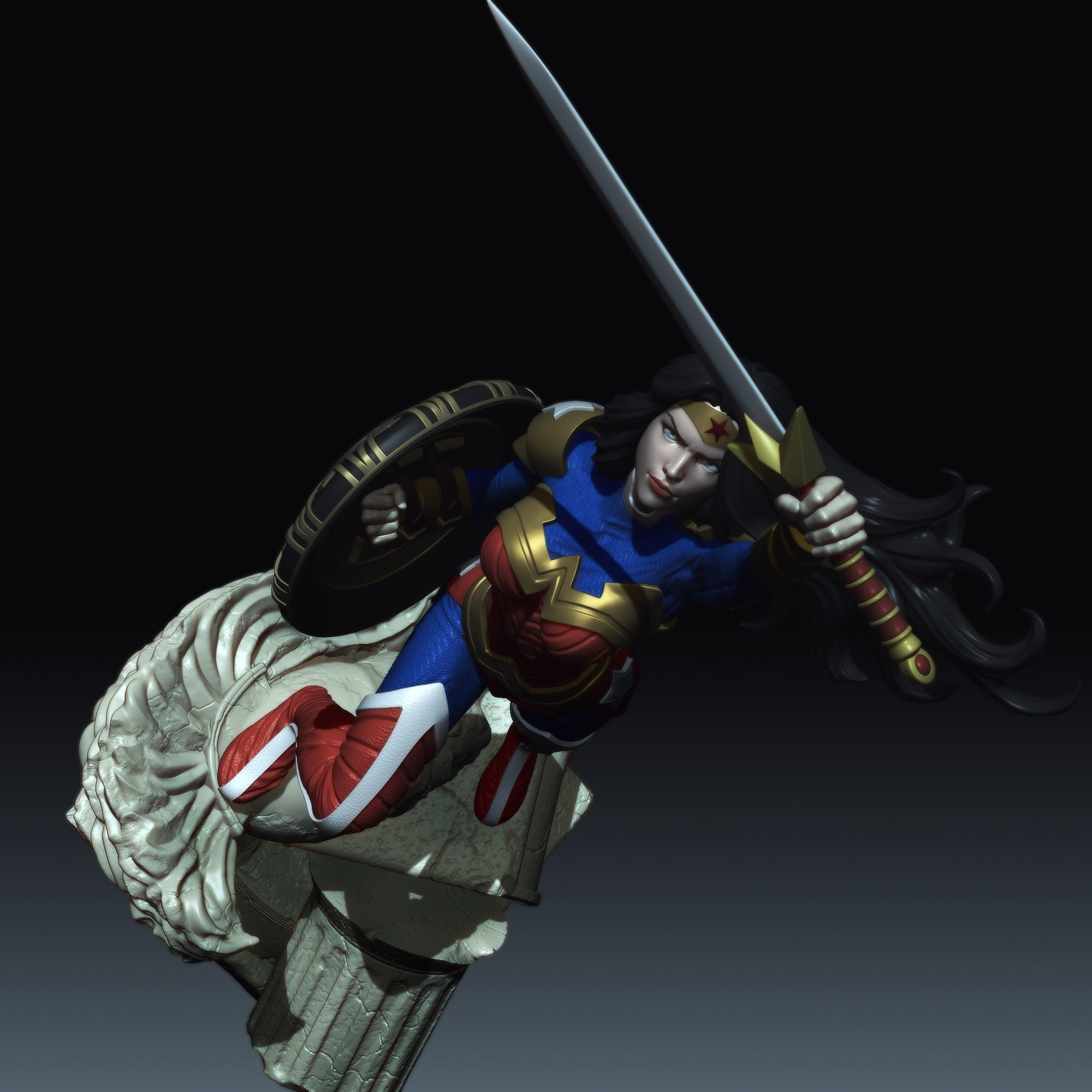 Wonder Woman from DC Comics STL for 3D printing