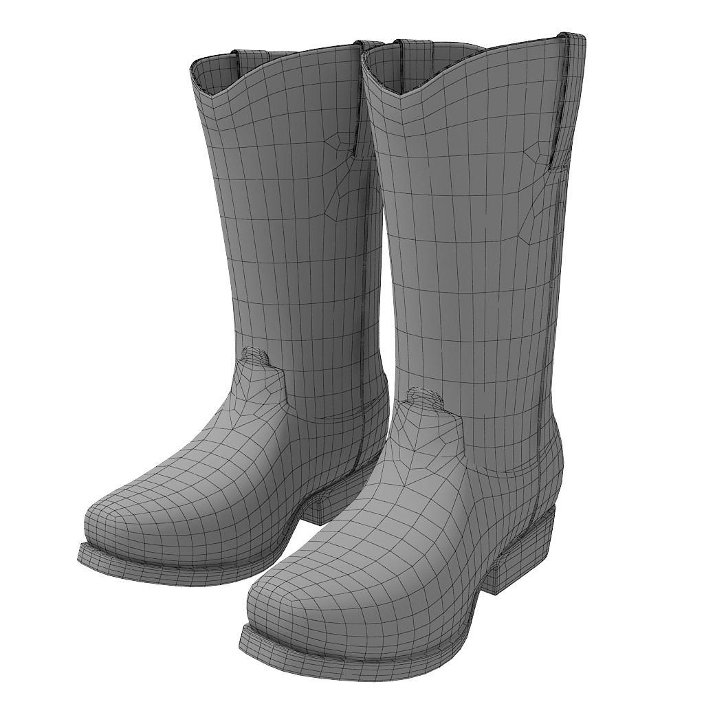 Cowboy boots 3d model max obj c4d for New model boot
