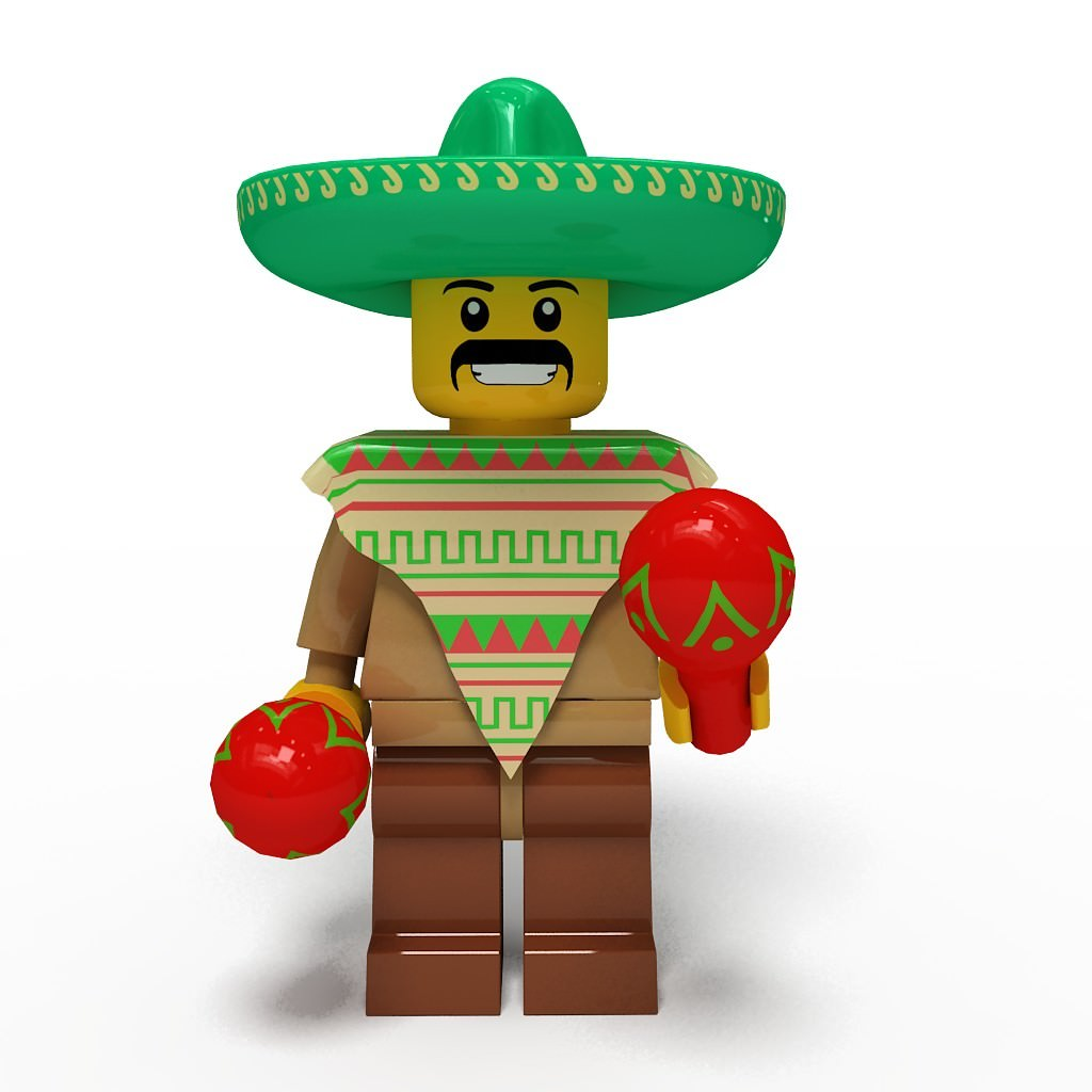 Lego man collection 10 characters 3D Model .max .obj .c4d - CGTrader ...
