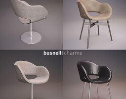 busnelli charme chair collection 3d model