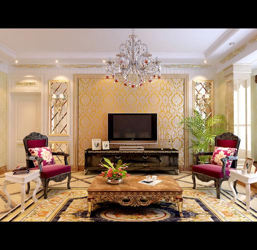posh living room 3d model max