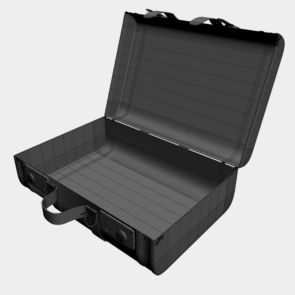 Old Suitcase Open 3d Model Max Obj 3ds C4d Cgtrader Com