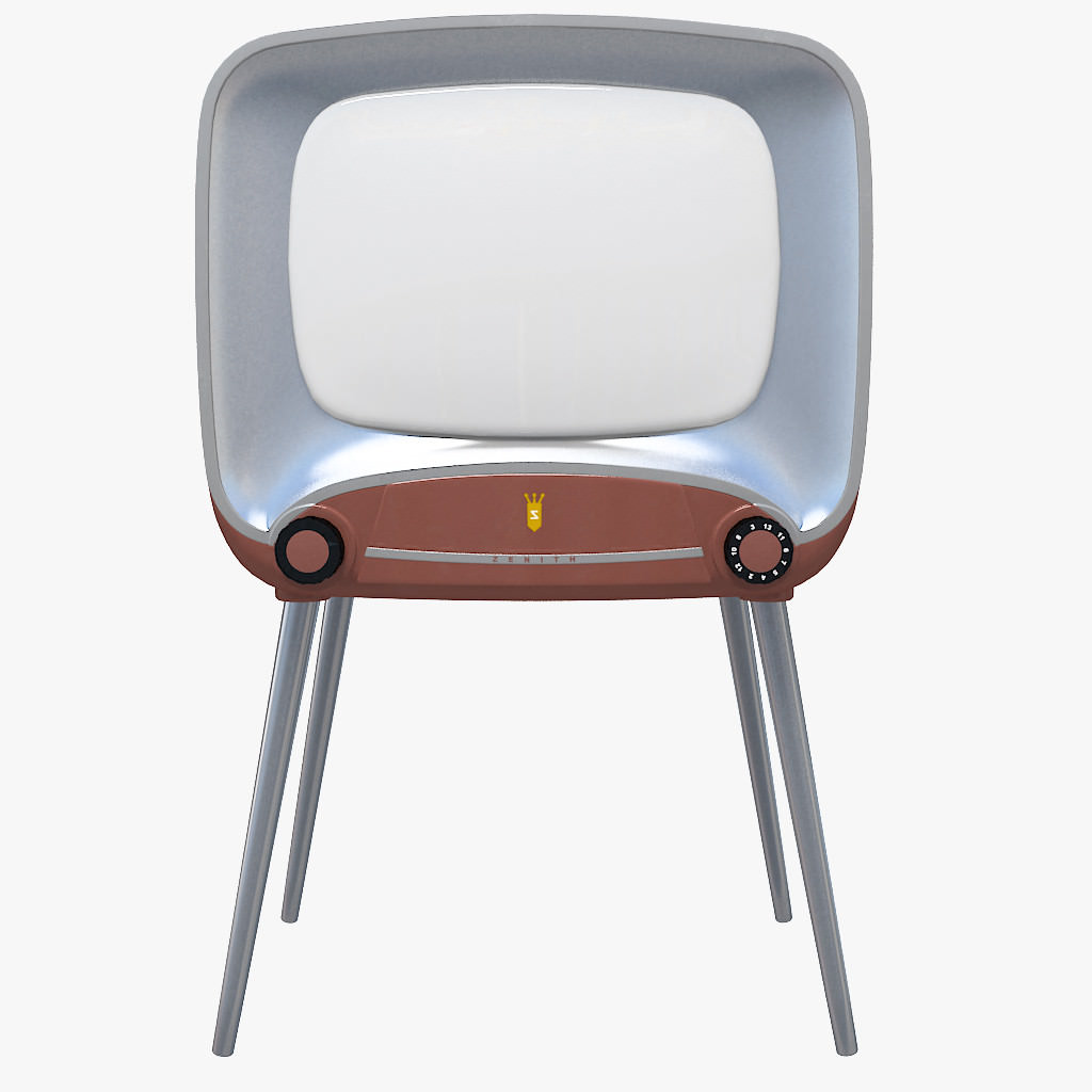 Old TV Retro TV 3D Model .max .obj .3ds .c4d