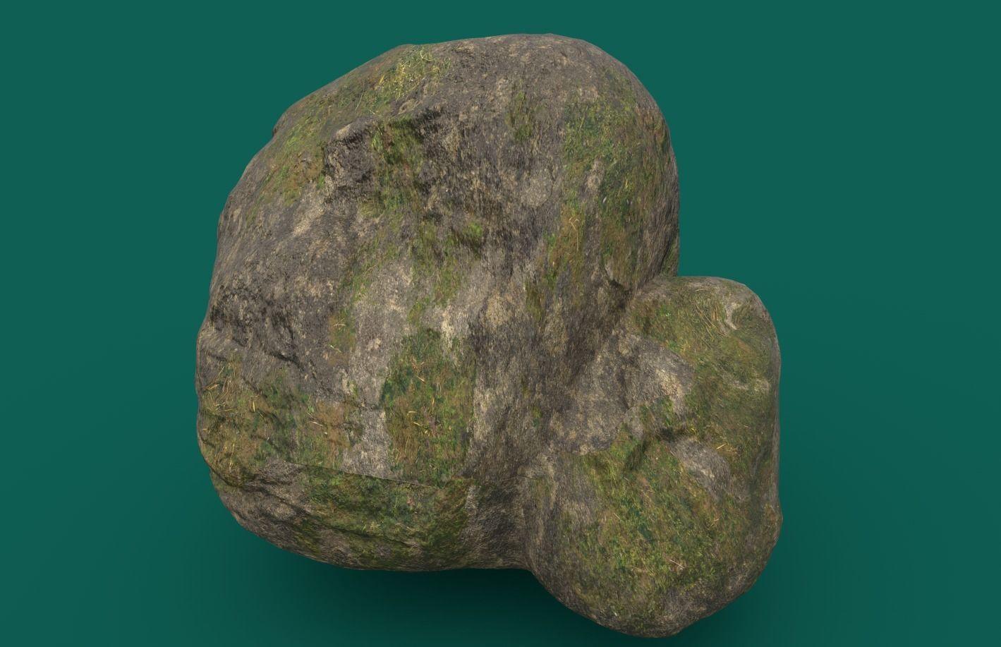 Mossy Rock 4 PBR