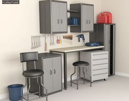 3D model Garage Furniture 05 Set