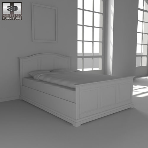 ikea birkeland bed 3d model game ready max obj 3ds fbx. Black Bedroom Furniture Sets. Home Design Ideas