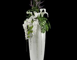 3D model calla Exotic Arrangement