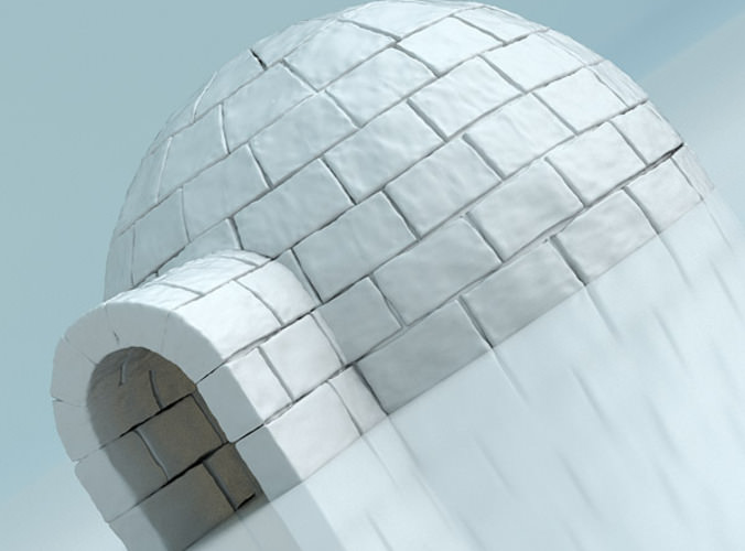 Igloo 3d Model Obj 3ds Fbx Blend Cgtrader Com