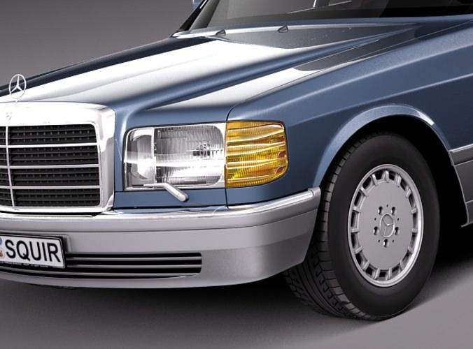 mercedes-benz 500 sel 1987-1992 3d model max obj mtl 3ds fbx c4d lwo lw lws 1