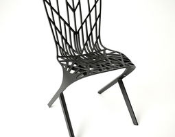 Knoll Aluminum Side Chair 3D Model