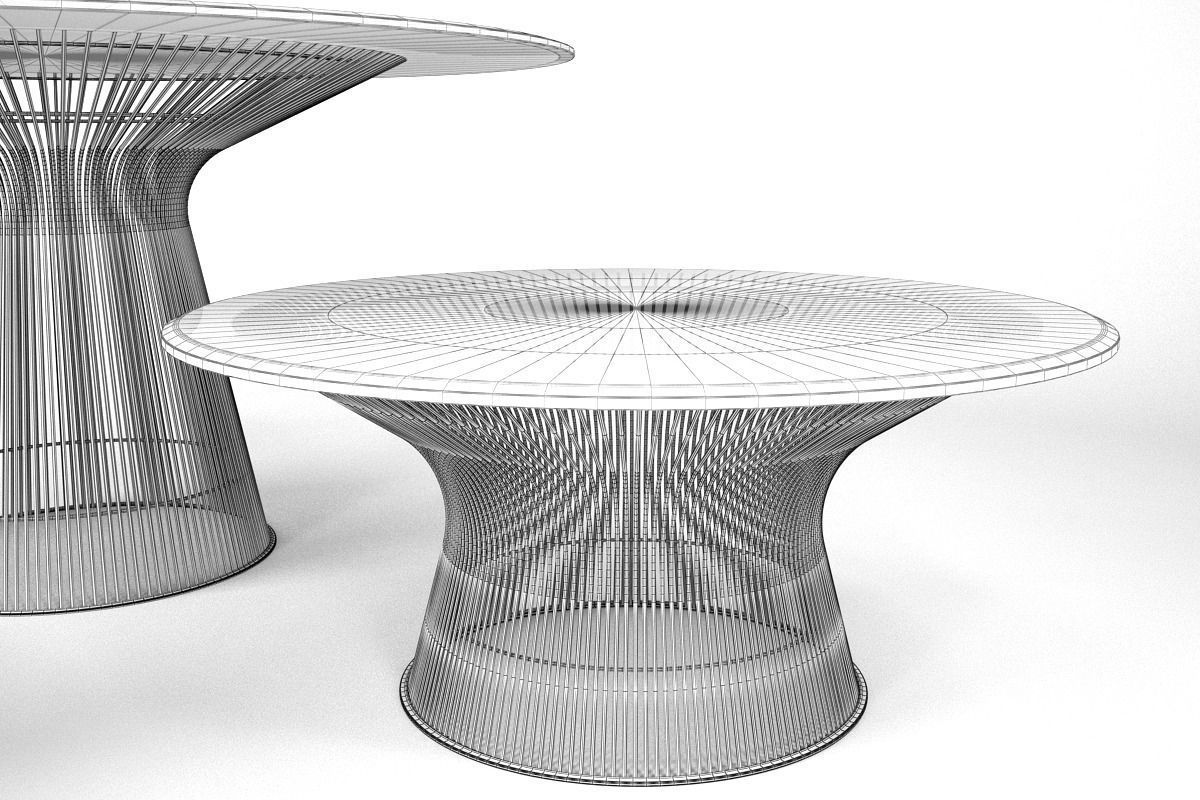 ... Knoll Platner Coffee Tables 3d Model Max Obj Fbx 5 ...