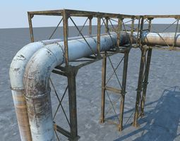 3d model pipeline industrial