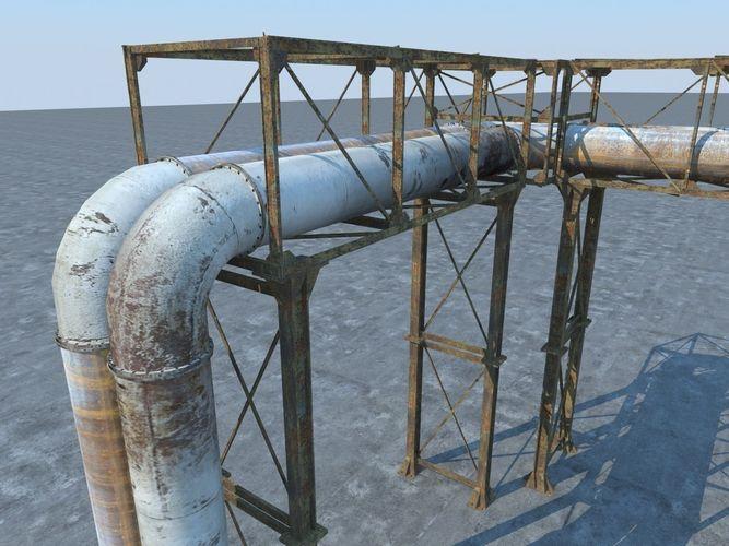 pipeline industrial 3d model max obj mtl fbx 1