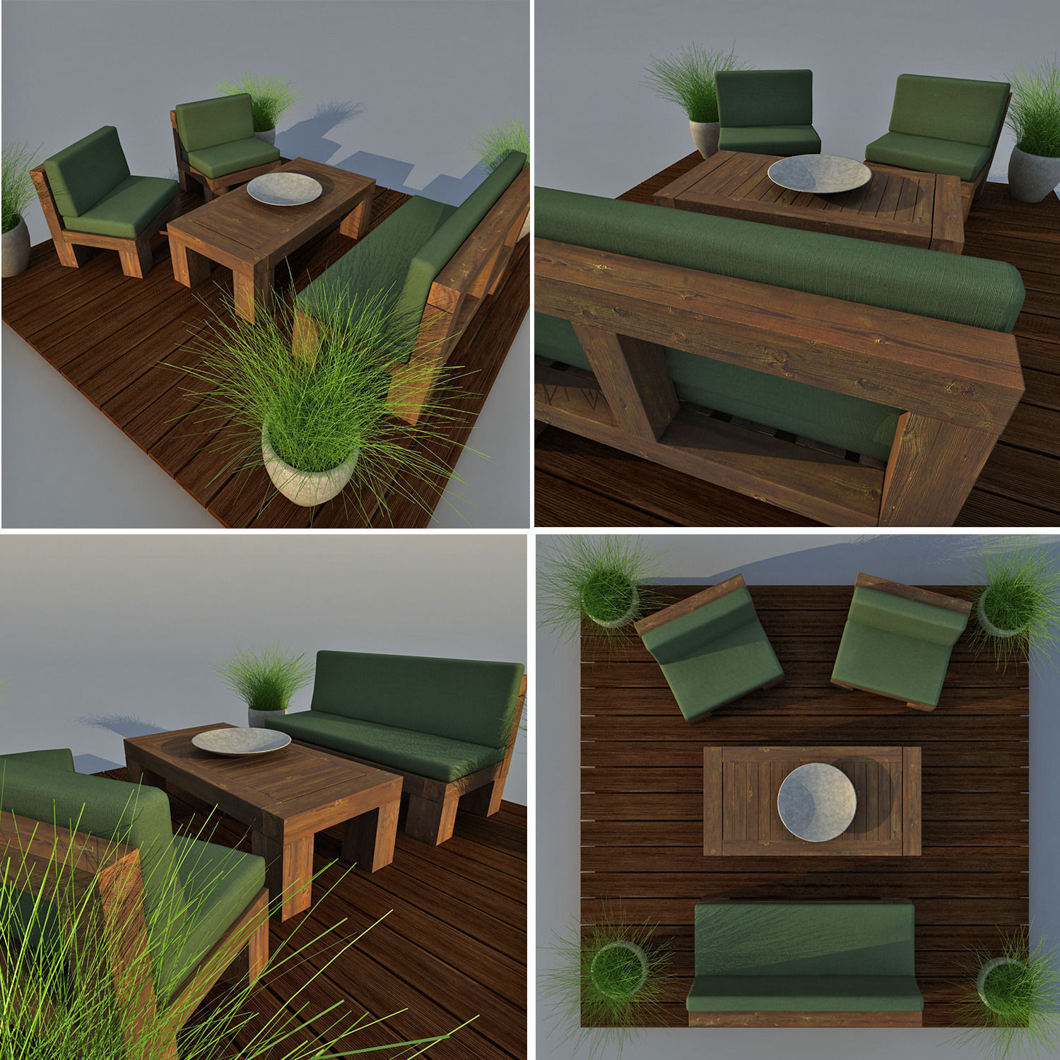 Lounge chair outdoor wood patio deck 3d model obj mtl cgtrader com -  Patio Furniture 3d Model Max Obj 3ds Fbx Mtl 2
